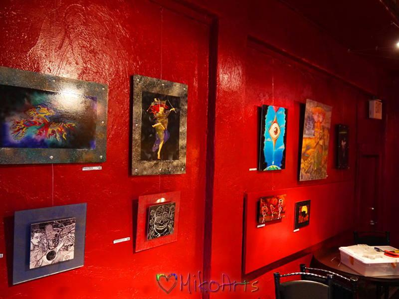 Java Joes Coffee House Downtown Albuquerque Showing Miko Paintings Art by Miko Zen MikoArts A 1